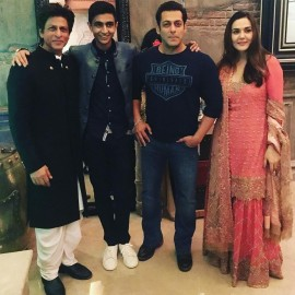 Shah Rukh Khan, Salman Khan, Preity Zinta at Shah Rukh Khan's Diwali Party